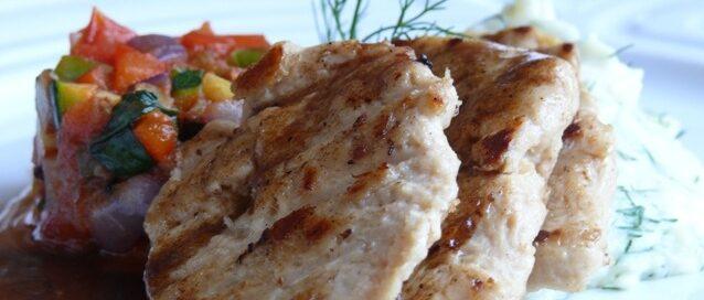 Goody foody chicken style, zelenina ratatatouille a zemiakové pyré s čerstvým kôprom