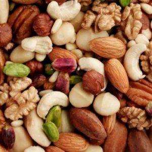 Almonds, cashews, hazelnuts