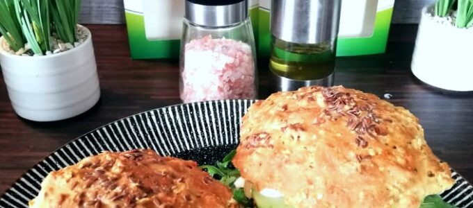 Vegetarian recept | Vegan burger Goody Foody s hummusom