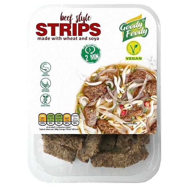 Vegánske STRIPS, beef style Goody Foody