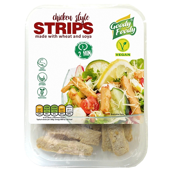 Vegánske STRIPS, chicken style Goody Foody
