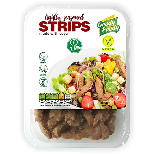 Vegánske STRIPS lightly seasoned Goody Foody